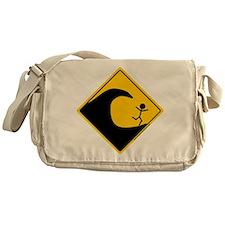 Tsunami Warning Messenger Bag