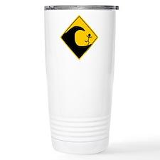 Tsunami Warning Travel Mug