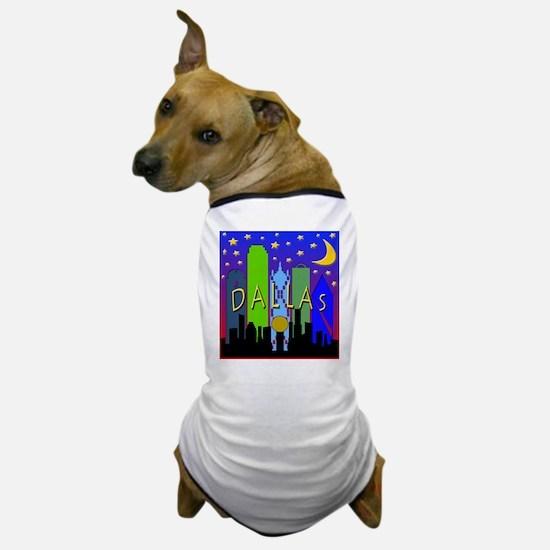 Dallas Skyline nightlife Dog T-Shirt