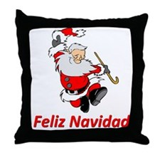 Spanish Dancing Santa Claus Throw Pillow