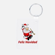 Spanish Dancing Santa Claus Aluminum Photo Keychai