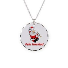 Spanish Dancing Santa Claus Necklace
