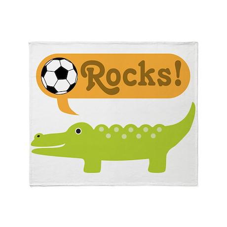 Soccer Alligator Throw Blanket
