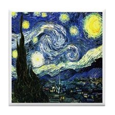 Starry Night Tile Coaster