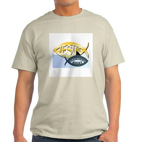 JESUS SHARK Ash Grey T-Shirt
