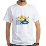 JESUS SHARK White T-Shirt