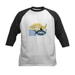 JESUS SHARK Kids Baseball Jersey