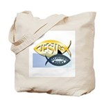 JESUS SHARK Tote Bag