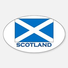 Scotland Flag Stuff Oval Decal