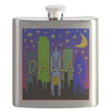 Dallas Skyline nightlife Flask