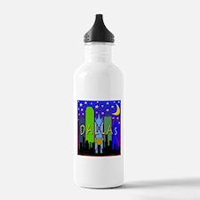 Dallas Skyline nightlife Water Bottle