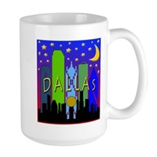 Dallas Skyline nightlife Mug