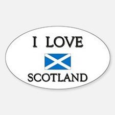 I Love Scotland Oval Decal