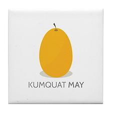 Kumquat May Tile Coaster