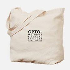 Optometrists live long because they dilate. Tote B