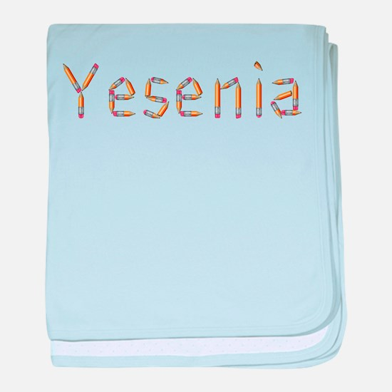Yesenia Pencils baby blanket
