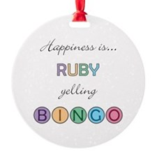 Ruby BINGO Ornament