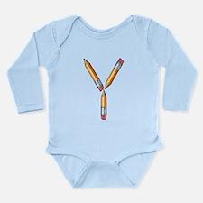 Y Pencils Long Sleeve Infant Bodysuit