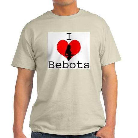 I Love Bebots Ash Grey T-Shirt