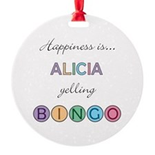 Alicia BINGO Ornament