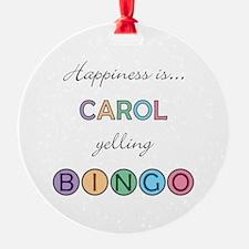 Carol BINGO Ornament