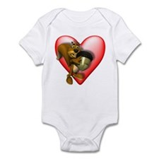 Heart & Squirrel Infant Creeper