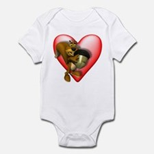 Heart & Squirrel Infant Creeper