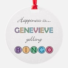 Genevieve BINGO Ornament