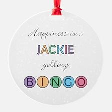 Jackie BINGO Ornament