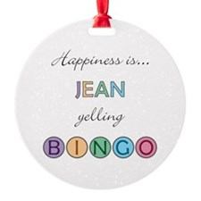 Jean BINGO Ornament