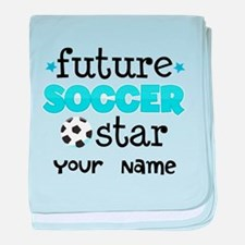 Personalized Future Soccer Star baby blanket