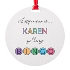Karen BINGO Ornament