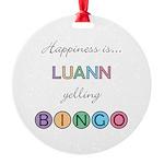 Luann BINGO Round Ornament