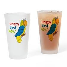 Crazy Bird Lady Drinking Glass