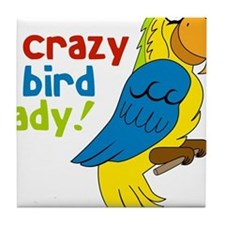 Crazy Bird Lady Tile Coaster