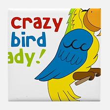 Crazy Bird Lady Tile Coaster
