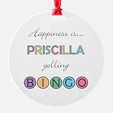 Priscilla BINGO Ornament