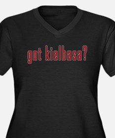 got kielbasa? Women's Plus Size V-Neck Dark T-Shir