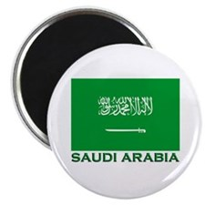 Saudi Arabia Flag Merchandise Magnet