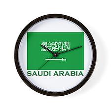 Saudi Arabia Flag Merchandise Wall Clock