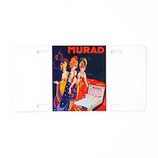 ART NOUVEAU Aluminum License Plate