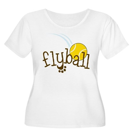 Fly Ball Women's Plus Size Scoop Neck T-Shirt
