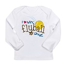 Fly Ball Dog Long Sleeve Infant T-Shirt
