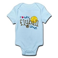 Fly Ball Dog Infant Bodysuit