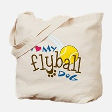Fly Ball Dog Tote Bag