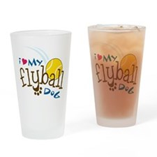 Fly Ball Dog Drinking Glass