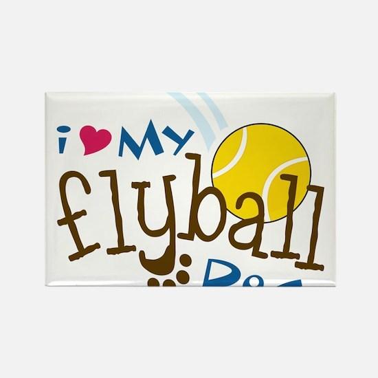Fly Ball Dog Rectangle Magnet