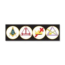 York Rite Bodies Car Magnet 10 x 3