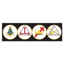 York Rite Bodies Bumper Sticker