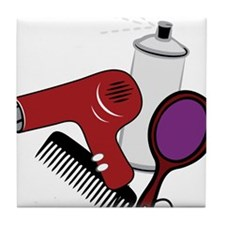 Hair Styling Supplies Tile Coaster